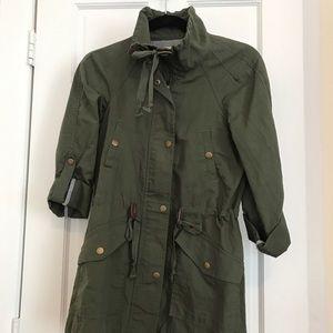 LOFT khaki cotton jacket . Mint condition .